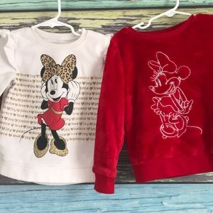 2 Minnie Mouse Sweatshirts